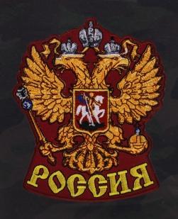 Удлиненные милитари шорты с нашивкой Россия