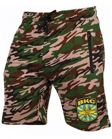 Удлиненные милитари шорты с нашивкой ВКС - купить выгодно