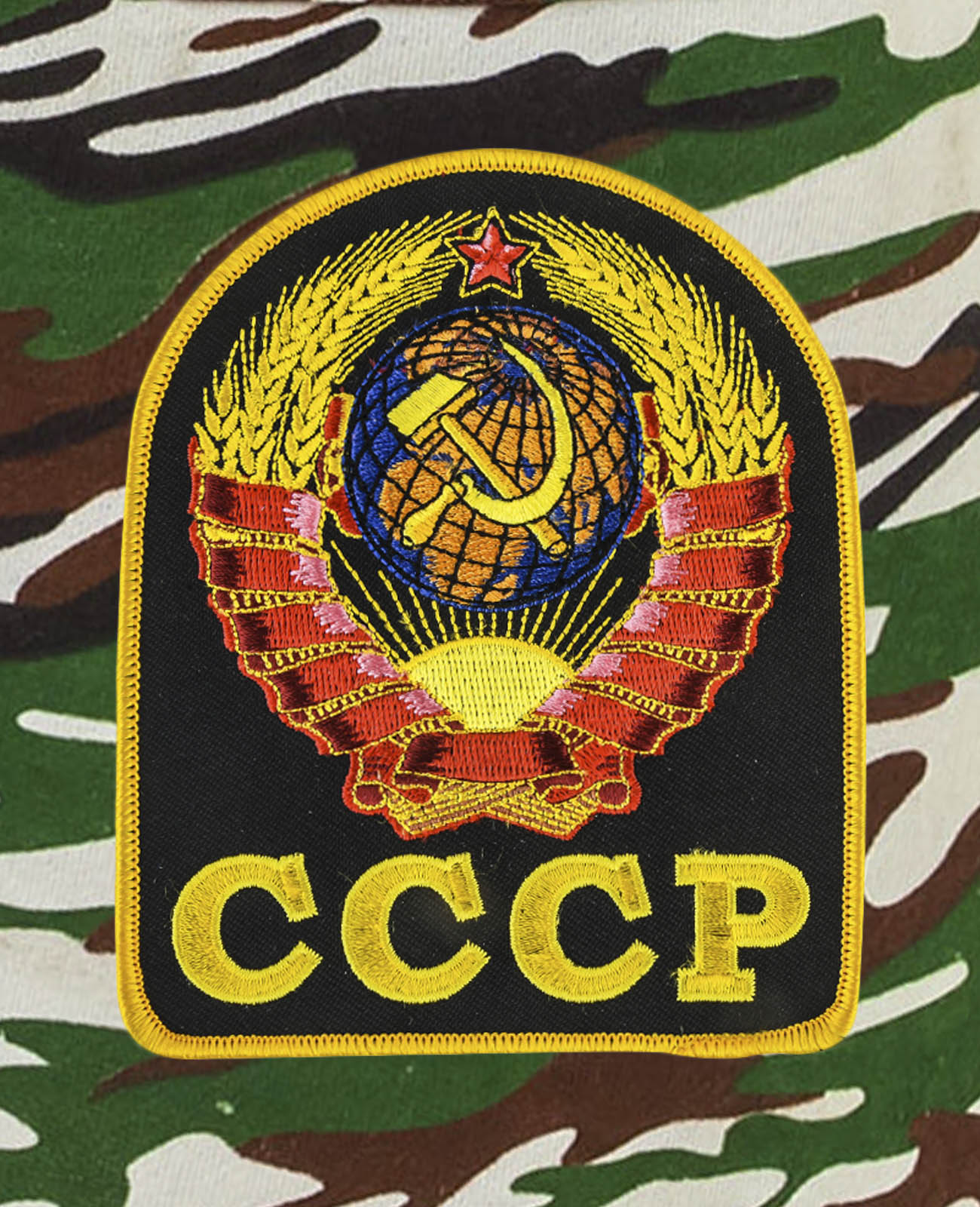 Удлиненные оригинальные шорты с нашивкой СССР