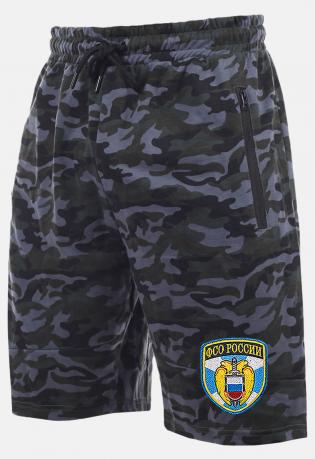 Удлиненные свободные шорты с карманами и нашивкой ФСО