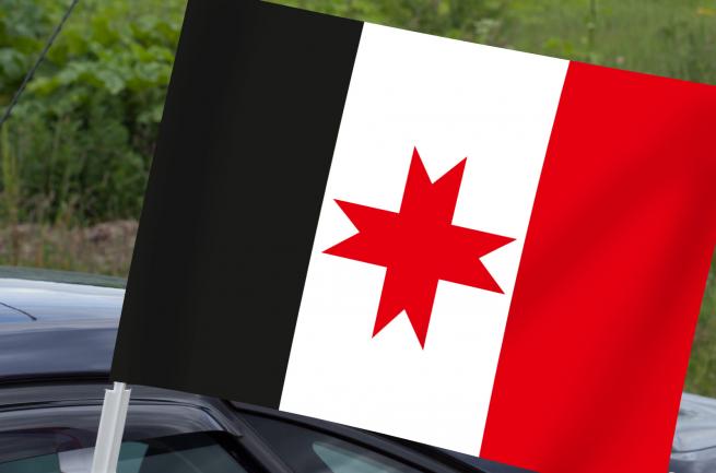 Удмуртский флаг на машину