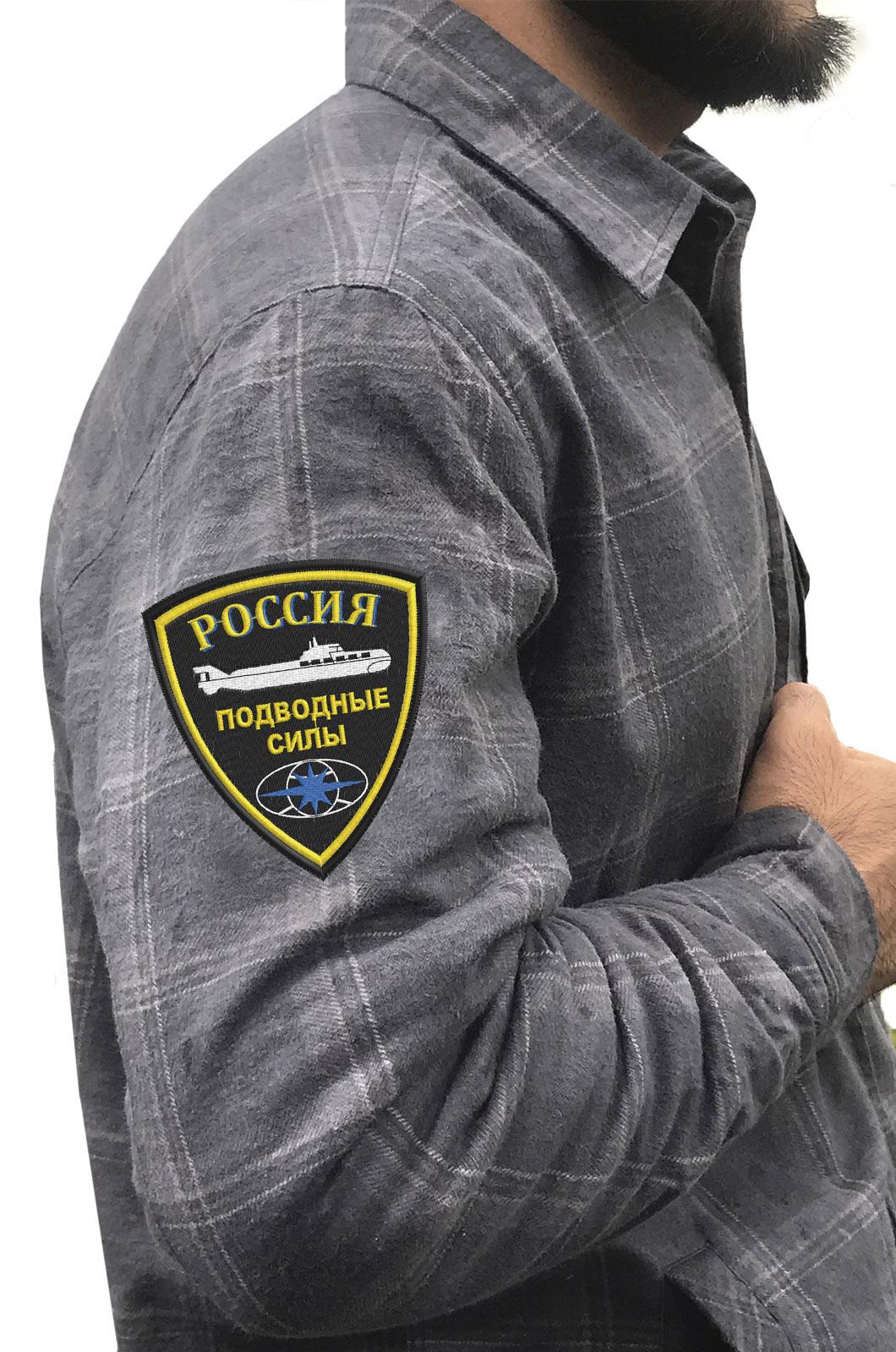 Удобная мужская рубашка с эмблемой Подводных сил России купить оптом
