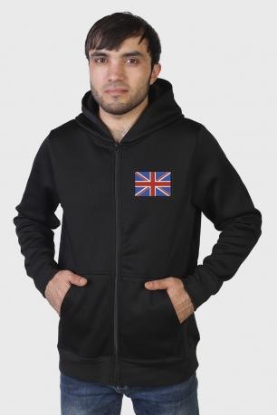 Удобная мужская толстовка с Флагом Великобритании