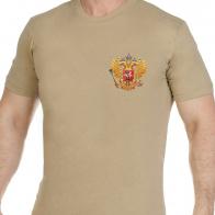 Удобная песочная футболка Россия