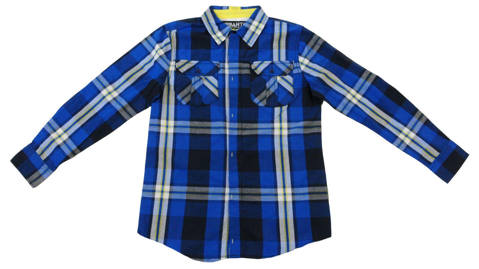 Удобная подростковая рубашка Urbant-вид спереди