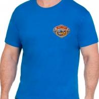 Удобная ярко-синяя футболка рыбаку