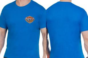 Удобная ярко-синяя футболка рыбаку - купить выгодно