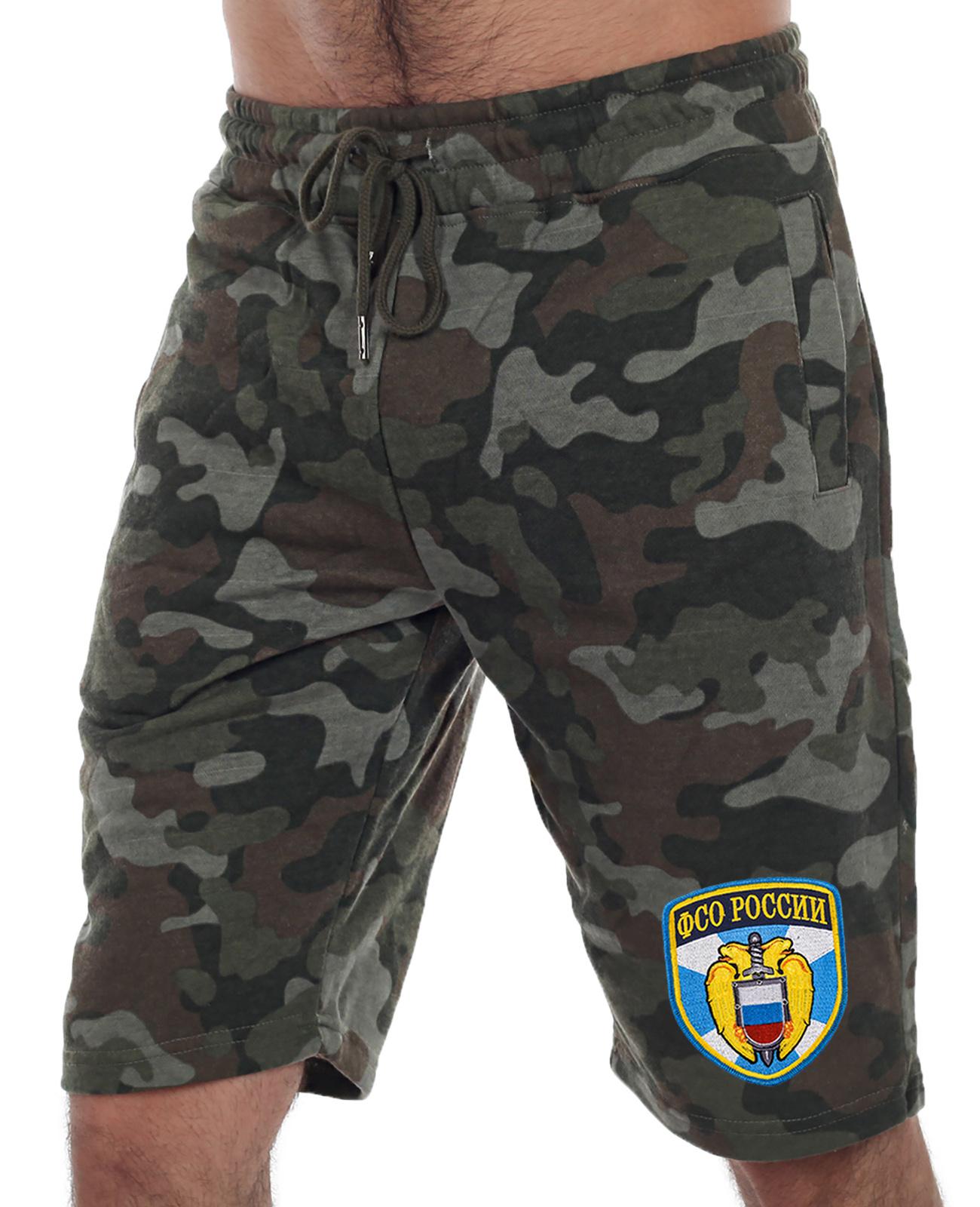 Купить удобные милитари шорты с нашивкой ФСО с доставкой онлайн
