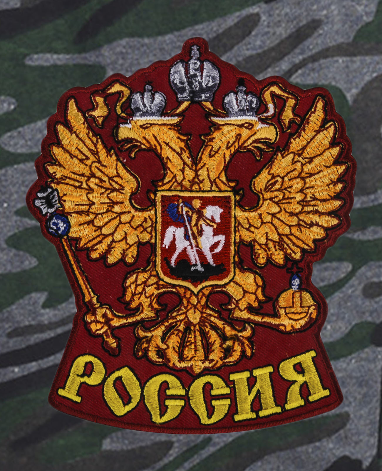 Удобные шорты удлиненного фасона с нашивкой Россия