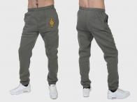 Удобные теплые спортивные штаны МВД на флисе