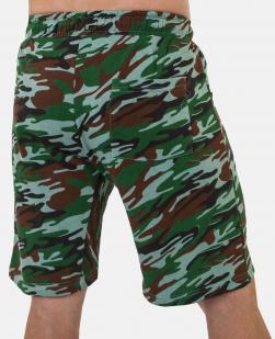 Удобные удлиненные шорты с карманами и нашивкой РХБЗ - купить онлайн