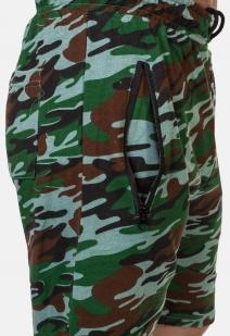 Удобные удлиненные шорты с карманами и нашивкой РХБЗ - купить с доставкой