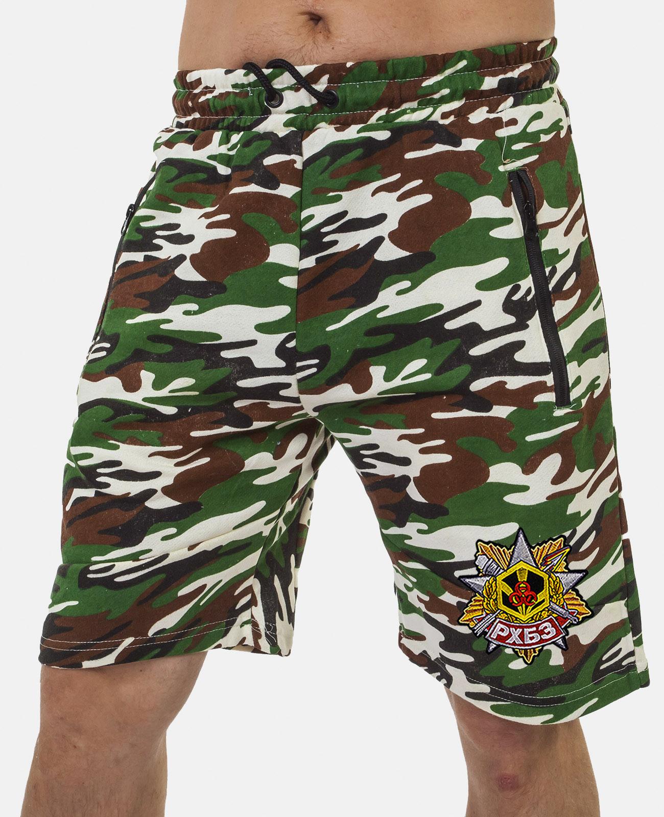 Купить удобные удлиненные шорты с нашивкой РХБЗ в подарок мужчине