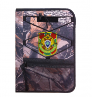 Удобный армейский планшет с военной нашивкой Пограничной службы