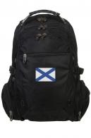 Удобный черный рюкзак нашивкой Андреевский флаг