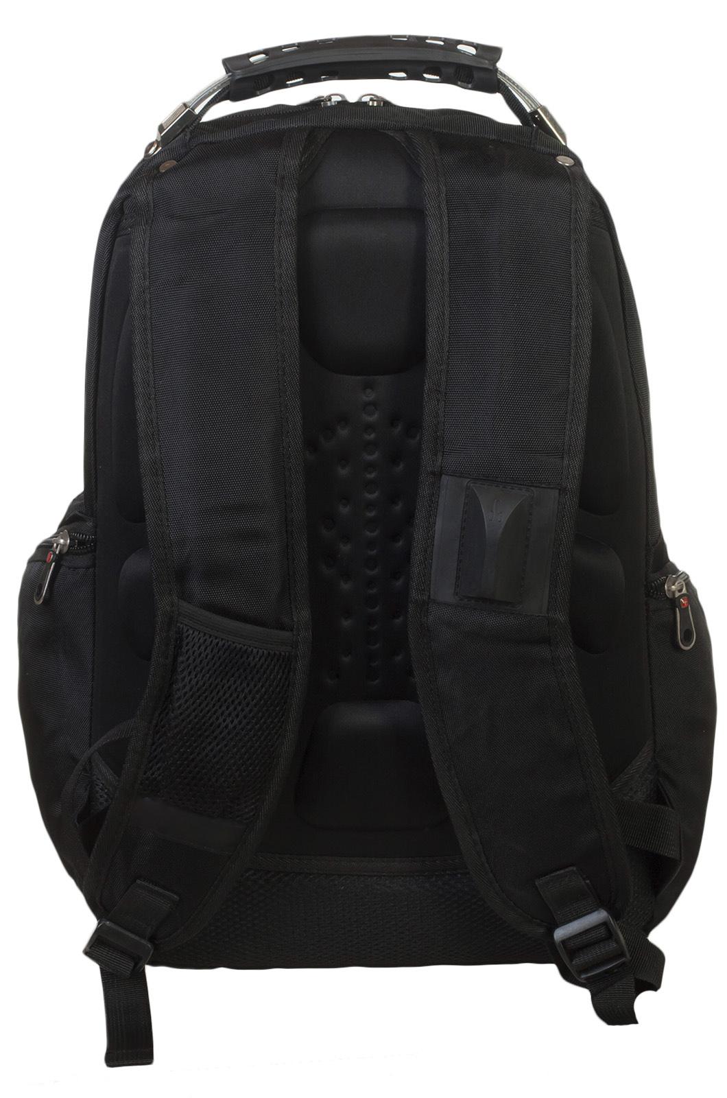 Удобный черный рюкзак с Андреевским флагом За ВМФ купить онлайн