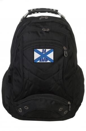 Удобный черный рюкзак с Андреевским флагом За ВМФ