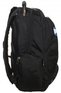 Удобный черный рюкзак с Андреевским флагом За ВМФ купить оптом