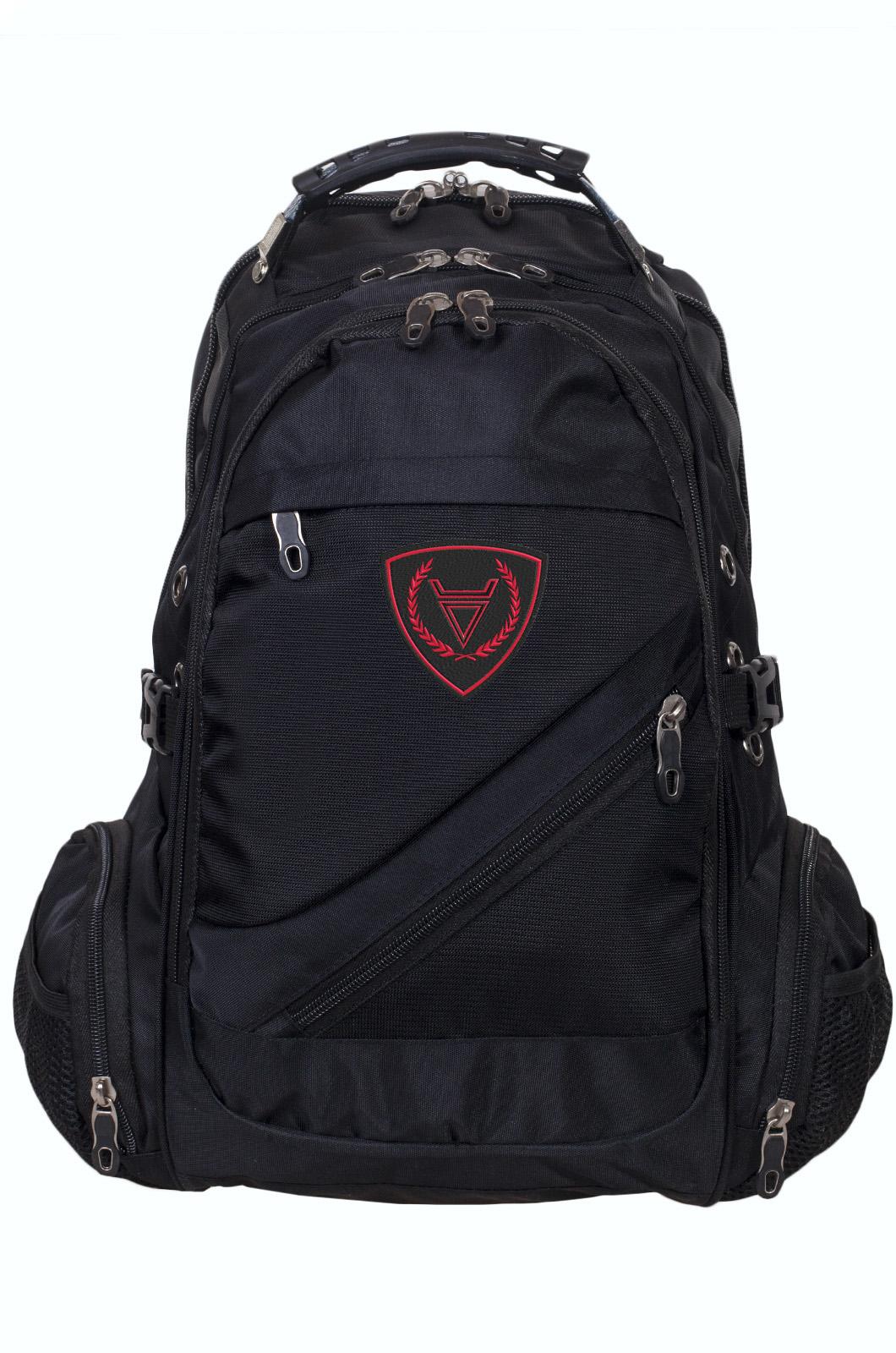 Удобный черный рюкзак с нашивкой Бога Велеса