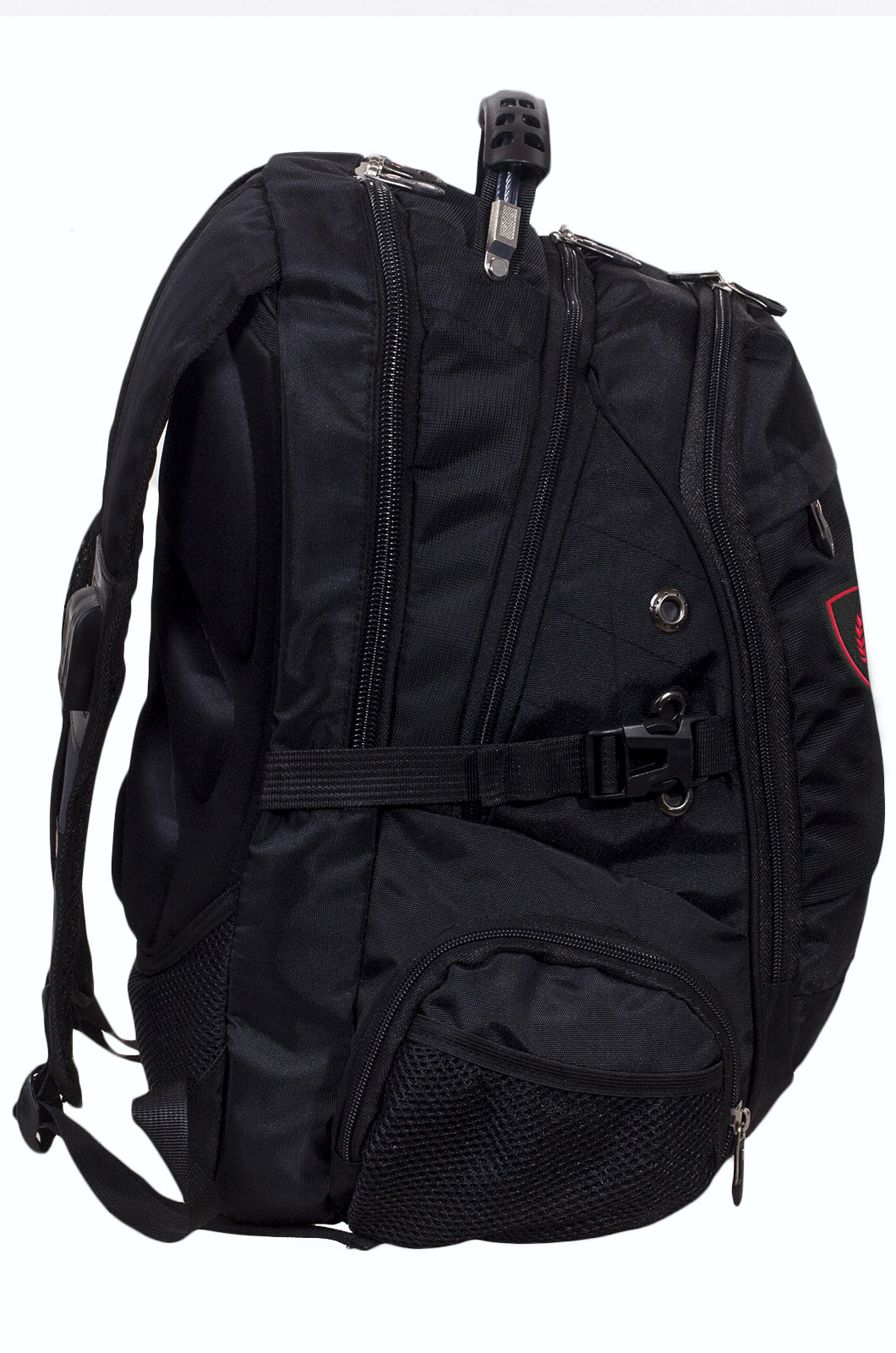 Заказать удобный черный рюкзак с нашивкой Бога Велеса