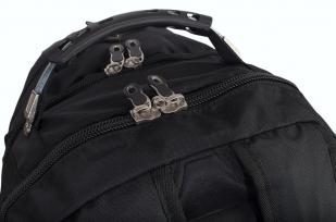 Удобный черный рюкзак с нашивкой Бога Велеса купить в розницу