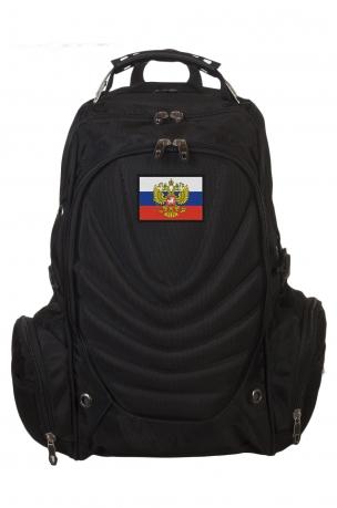 Удобный черный рюкзак с нашивкой Штандарт Президента