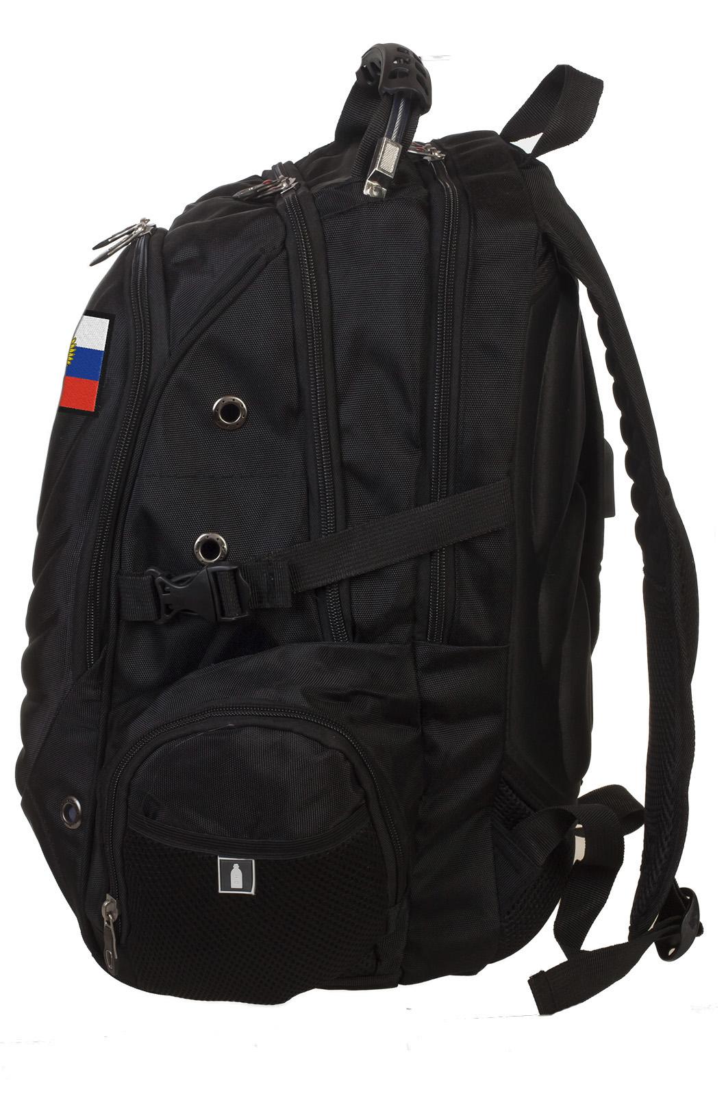 Удобный черный рюкзак с нашивкой Штандарт Президента - купить с доставкой