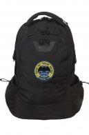 Удобный черный рюкзак с нашивкой Спецназ ГРУ