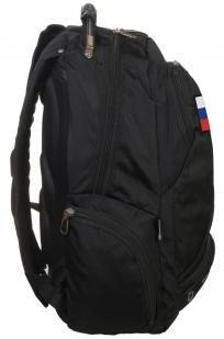 Удобный черный рюкзак с патриотичной нашивкой купить в подарок