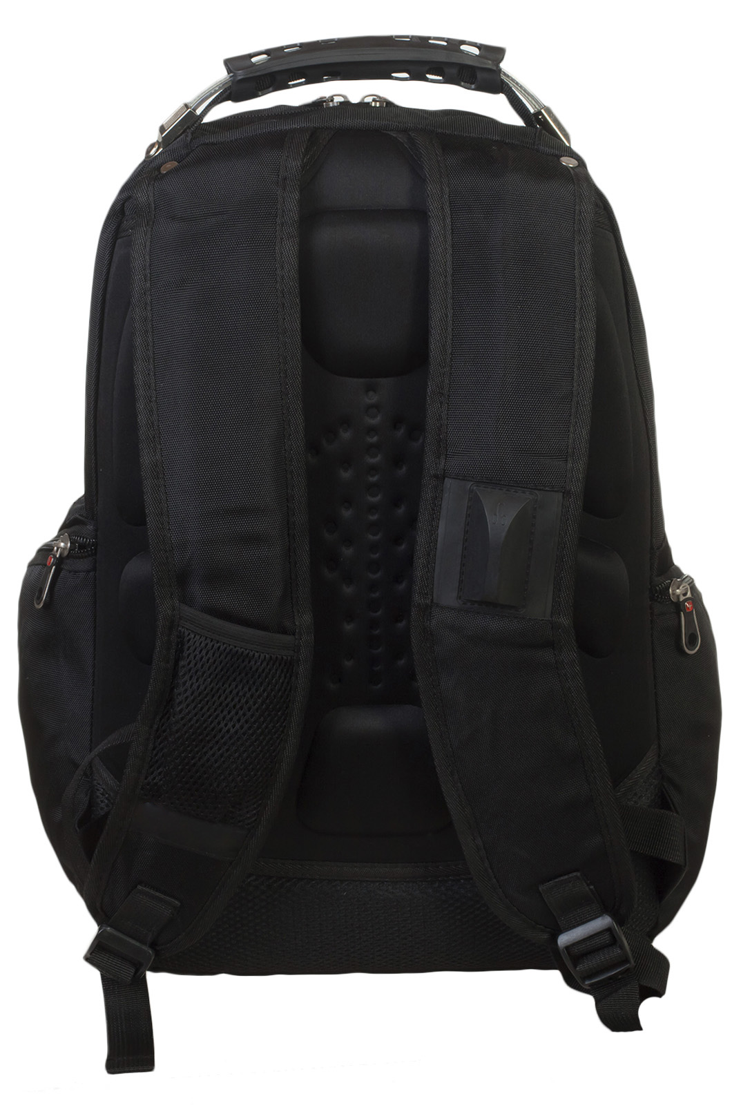 Удобный черный рюкзак с патриотичной нашивкой заказать в подарок