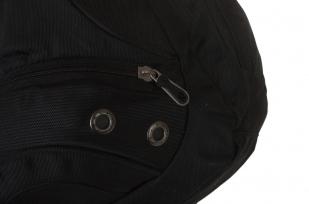 Удобный черный рюкзак с патриотичной нашивкой купить с доставкой