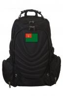 Купить удобный черный рюкзак с тематической нашивкой Погранвойск