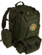 Удобный эргономичный рюкзак с военной нашивкой ПОГРАНВОЙСКА