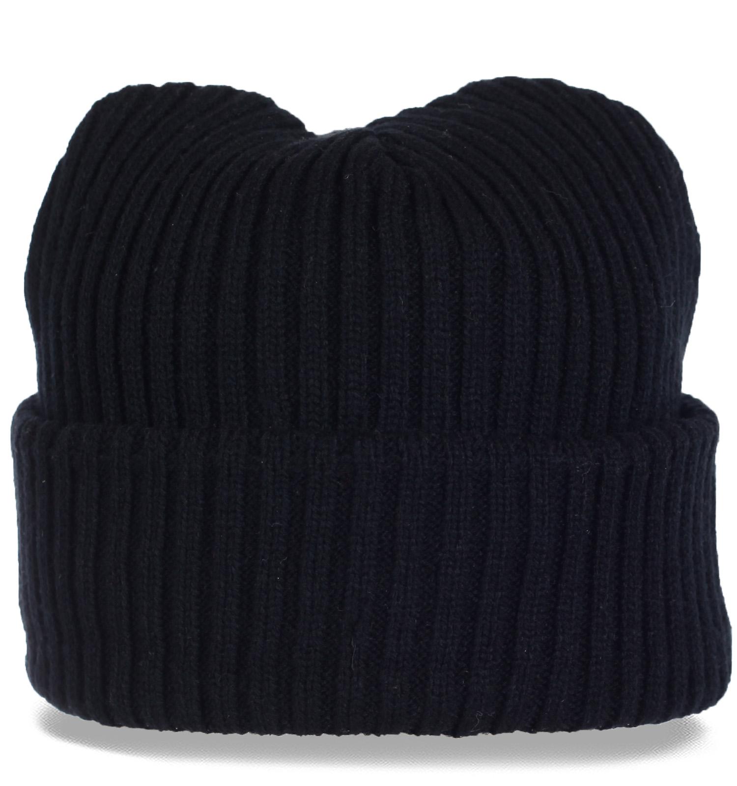 Удобный фасон трикотажной шапки с отворотом удачное решение холодным зимним днем. Бери не раздумывай! Таких шапок осталось мало!