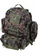 Удобный камуфляжный рюкзак с нашивкой Охотничьих войск