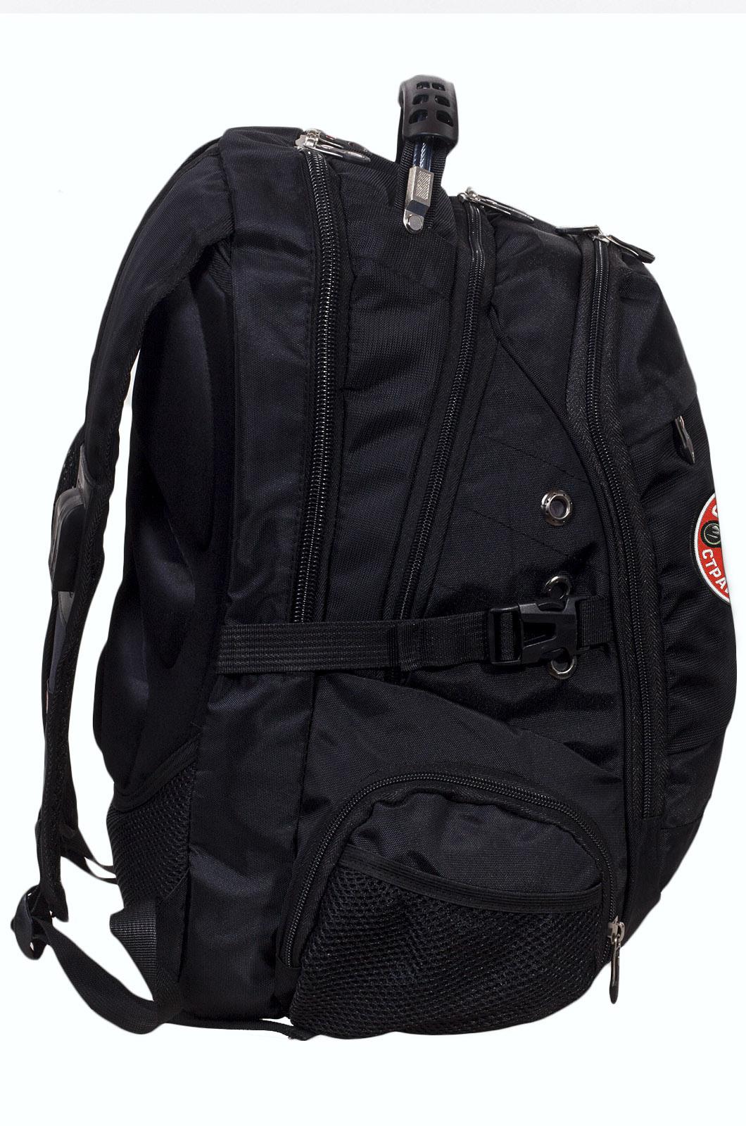 Заказать удобный мужской рюкзак с нашивкой Осторожно страйкболист