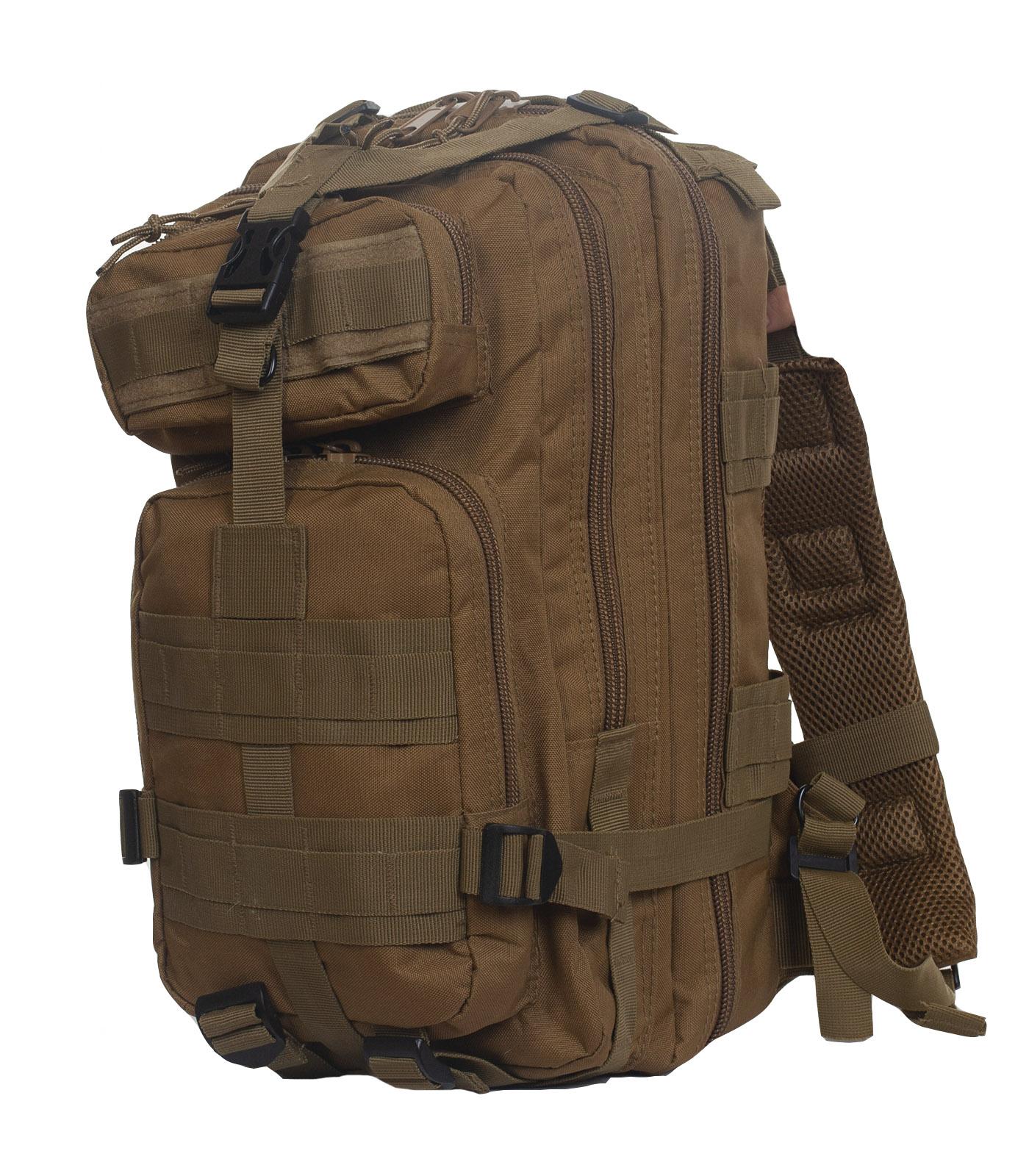 Удобный штурмовой рюкзак хаки-песок