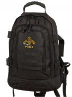Удобный темно-серый рюкзак с эмблемой РХБЗ