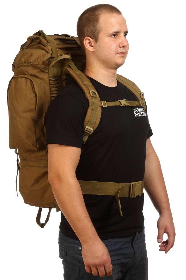 Удобный внушительный рюкзак с нашивкой Охотничий Спецназ - купить оптом