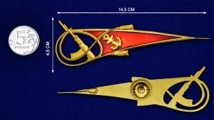 Уголок на берет Морской пехоты с автоматом - размер