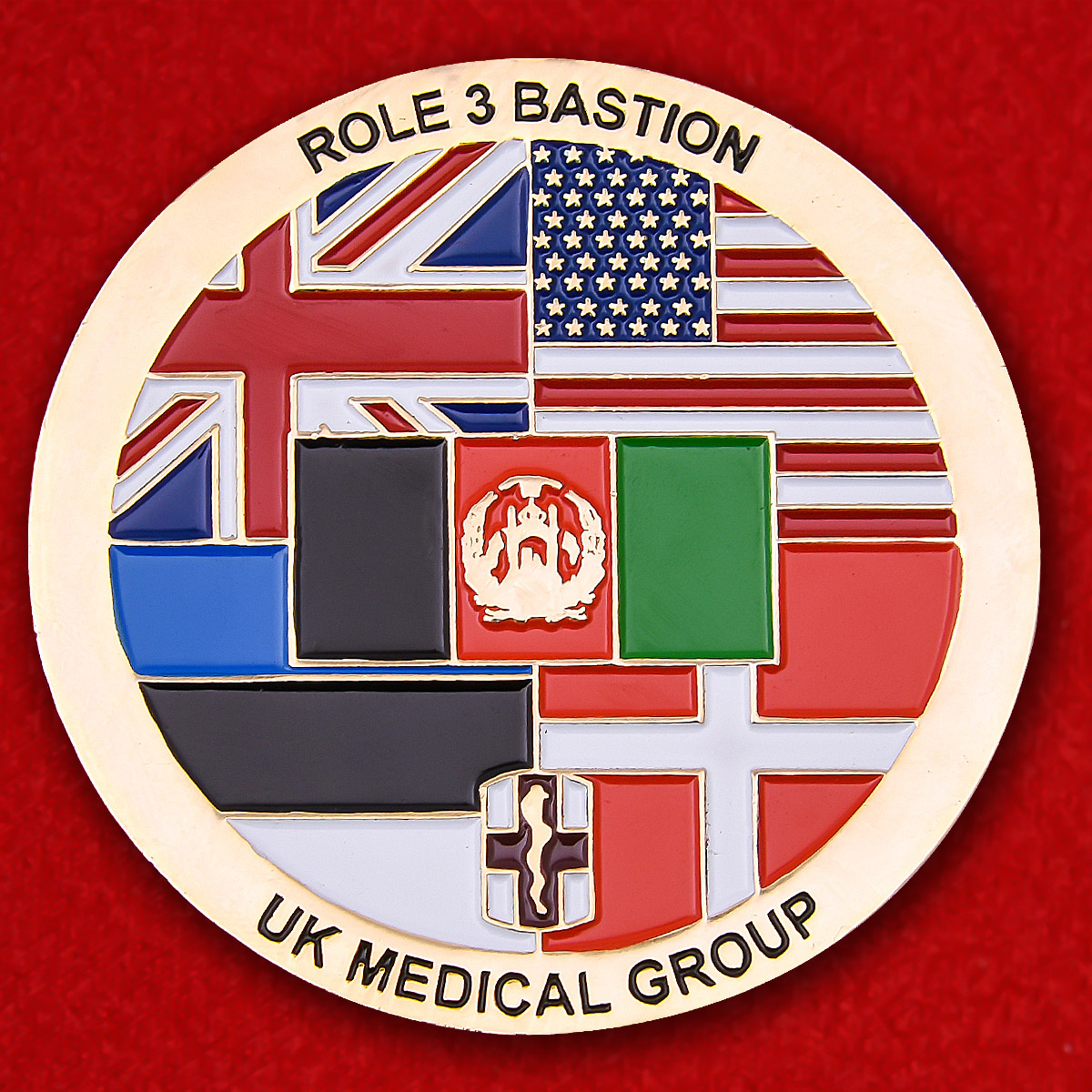 UK Medical Group Role 3 Bastion Operation Herrick 19A Challenge Coin