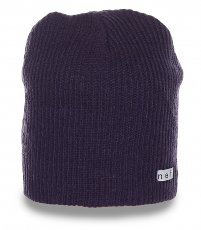Ультрамодная мужская шапка бини ребристой вязки от Neff для серьезных парней