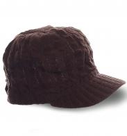 Ультрамодная шапка с козырьком связанная аранами для мужчин со вкусом