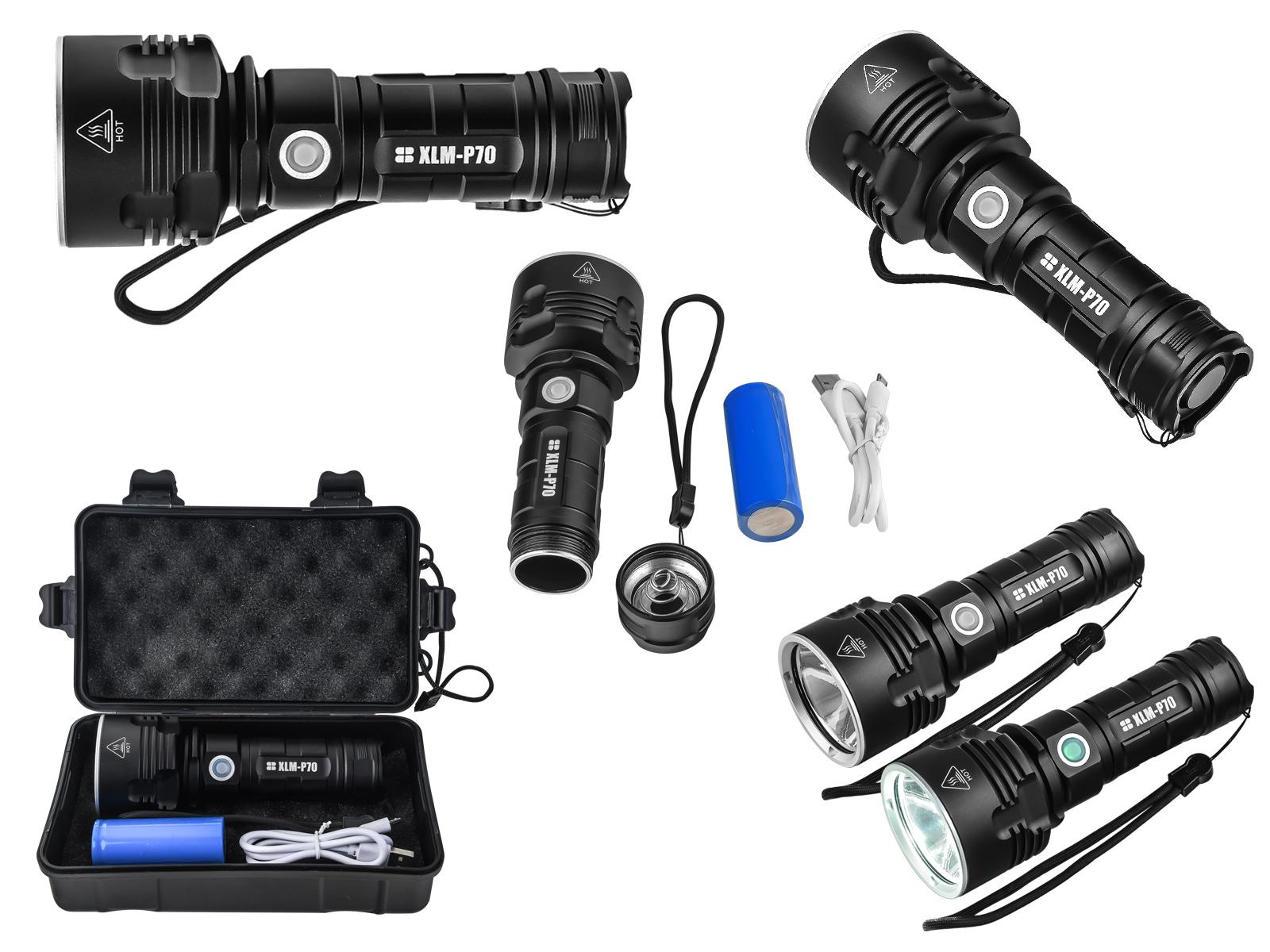 Ультраяркий тактический фонарь XLM-P70 8000 Lm