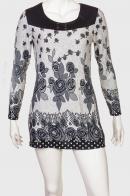 Умилительное женское платье-туника с красивым принтом от Marie Claire