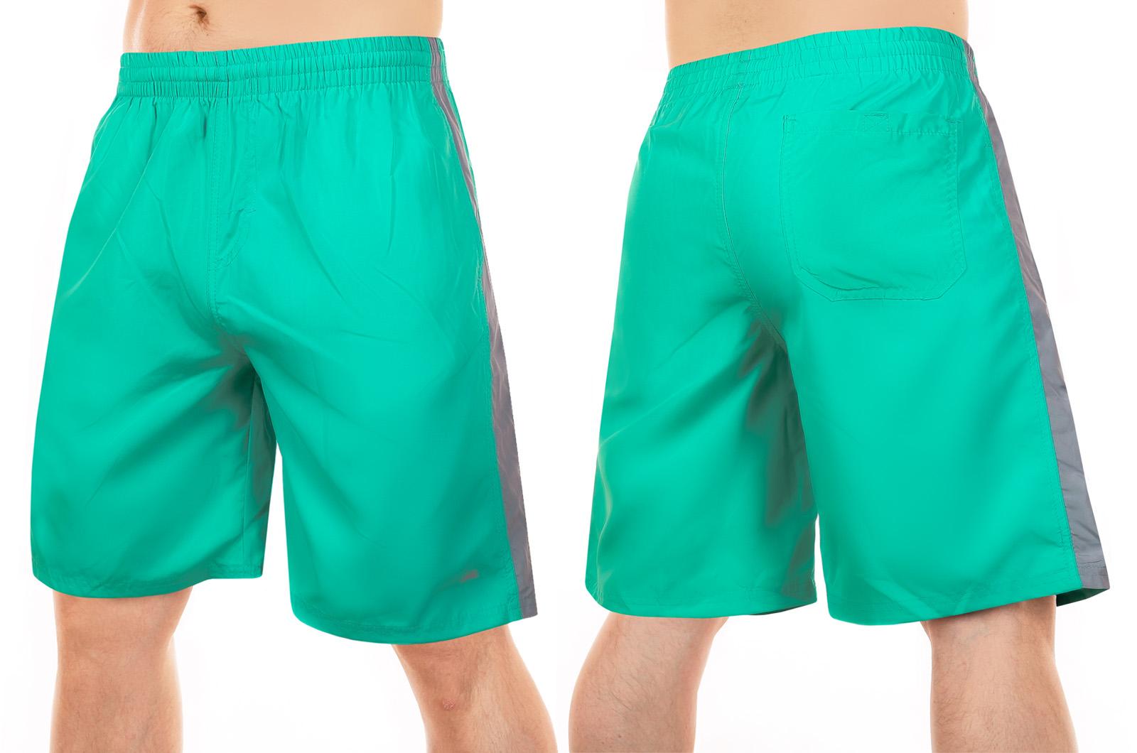 Однотонные мужские шорты до колен для бассейна