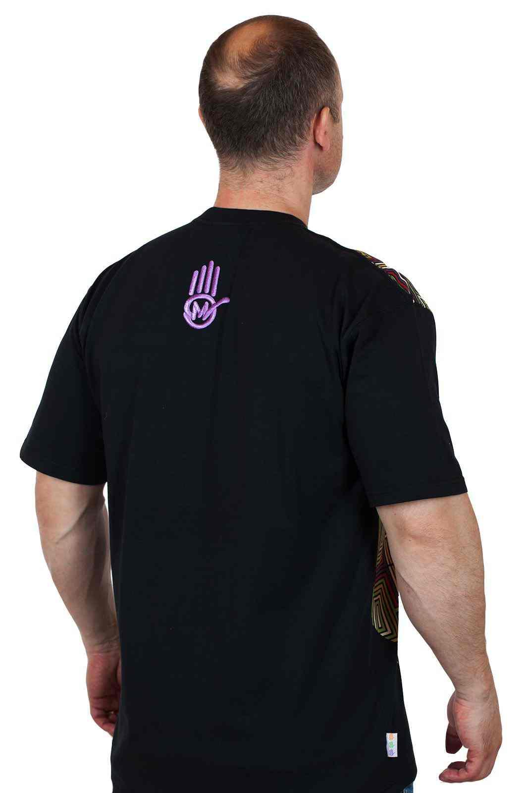 Уникальная дизайнерская футболка от Miskeen Originals-вид сзади