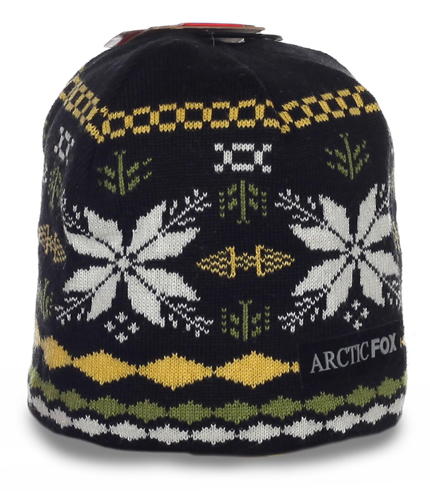 Уникальная мужская шапка Arctic Fox обворожительного дизайна с орнаментом на флисе