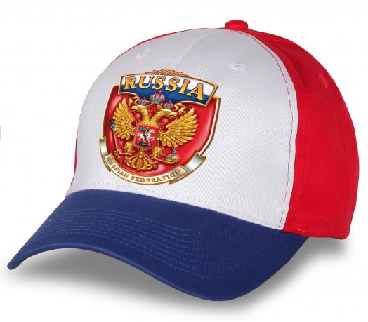 """Уникальная обнова - яркая бейсболка """"Russia"""" с гербом. Стильная, эффектная, мега-популярная. Заказывай, пока не разобрали!"""