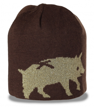 Уникальная трикотажная мужская шапка бини оригинального дизайна молодежная модель